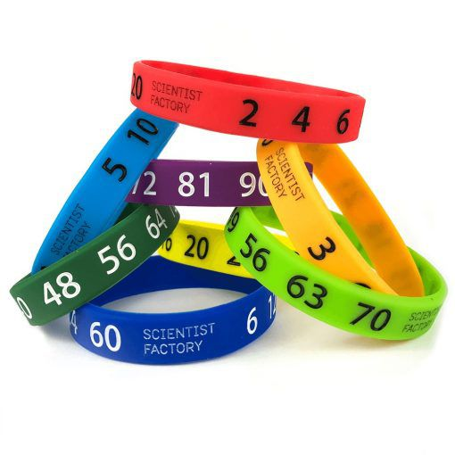 Multiplication math bands from Scientist Factory