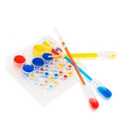 Color palette and pipettes