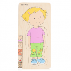 Wooden Five-layer Body Puzzle - Girl